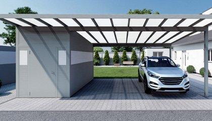 KD Carport mit Gerätehaus